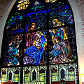 The Nativity Stained Glass by Kathy  White
