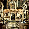The Nave At St Davids Cathedral 2 by Steve Purnell