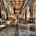 The Nave At St Davids Cathedral 3 by Steve Purnell