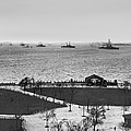 The Navy Fleet In New York Bay by Underwood Archives