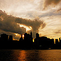 The New York City Skyline At Sunset by Vivienne Gucwa