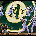 The Oakland A's Collage by Blake Richards