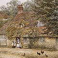 The Old Fish Shop Haslemere by Helen Allingham