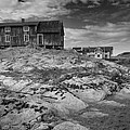 The Old Fisherman's Hut Bw by Heiko Koehrer-Wagner