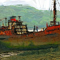 The Old Fishing Trawler by Steve K
