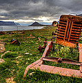 The Old Rust Tractor by Arnar B Gudjonsson