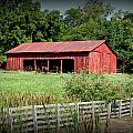 The Old Tractor Shed In Vignette by David Dunham