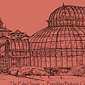 The Palm House In A Salmon Pink  by Building  Art