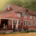 The Palmer Bates' Blacksmith Shop In Potter Hollow N Y Around 1910 by Dwight Goss