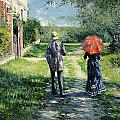 The Path Uphil by Gustave Caillebotte