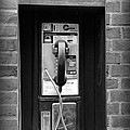 The Payphone - Black And White by Paul Ward