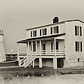 The Piney Point Lighthouse In Sepia by Bill Cannon