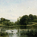 The Pond At Gylieu by Charles Francois Daubigny