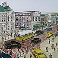 The Portsmouth Ohio Post Office On The Esplanade 1948 by Frank Hunter
