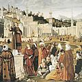 The Preaching Of Saint Stephen In Jerusalem by Vittore Carpaccio