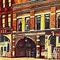 The Princess And Grand And Star Theatres On Amusement Row State Street In Erie Pa In 1910 by Dwight Goss