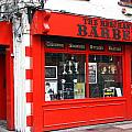 The Red Barber Shop by Christiane Schulze Art And Photography
