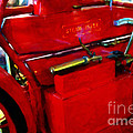 The Red Steam Flyer . Steam Powered Motorcycle . 7d14374 by Wingsdomain Art and Photography