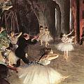 The Rehearsal On The Stage by Edgar Degas