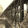 The Retired Railroad Bridge by Sherman Perry
