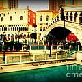 The Rialto Bridge Of Venice In Las Vegas by Susanne Van Hulst