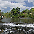 The Riverside And Weir - Bakewell by Rod Johnson