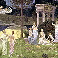 The Sacred Wood Cherished By The Arts And The Muses by Pierre Puvis de Chavannes