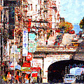 The San Francisco Stockton Street Tunnel . 7d7355 by Wingsdomain Art and Photography