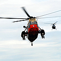 The Sea King Helicopter And The Agusta by Luc De Jaeger