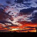 The Sky Is On Fire  by Saija  Lehtonen