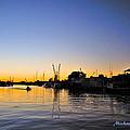 The Sponge Docks After  Sunset by Michael Richter