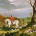 The Suffolk Hunt - Going To Cover Near Herringswell by John Frederick Herring Snr