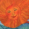 The Sun God Detail Of Red Sky At Night by Sushila Burgess