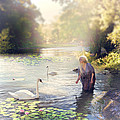 The Swan And The Fairy  by Cindy Grundsten