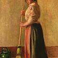 The Sweeper by Pierre Auguste Renoir