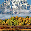 The Tetons In Autumn by Dave Mills