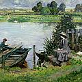 The Thames At Benson by Albert Chevallier Tayler