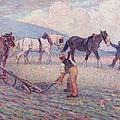 The Turn - Rice Plough by Robert Polhill Bevan