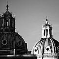 The Twin Domes Of S. Maria Di Loreto And Ss. Nome Di Maria by Fabrizio Troiani