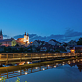 The Village, The Name Of Jesus Church And The Lake by Maremagnum