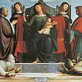 The Virgin And Child Enthroned by Bramantino