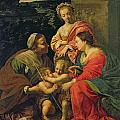 The Virgin And Child With Saints by Simon Vouet