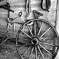 The Wagon Wheel Bw by Mike Nellums