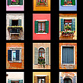 The Windows Of Venice by Peter Tellone