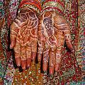 The Wonderfully Decorated Hands And Clothes Of An Indian Bride by Ashish Agarwal