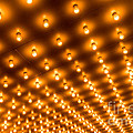Theater Marquee Lights In Rows by Paul Velgos