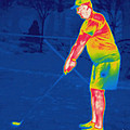 Thermogram Of A Golfer by Ted Kinsman