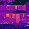 Thermogram Of A Home In Winter by Ted Kinsman