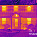 Thermogram Of A House In Winter by Ted Kinsman