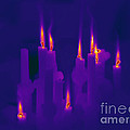 Thermogram Of Candles by Ted Kinsman